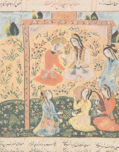 Le prince khosrow est assis en face de Shekar,,Iran...