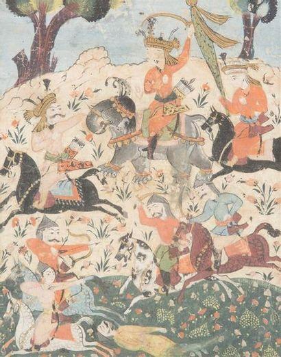 Scène de bataille, Iran Safavide, XVII-XVIIIe...