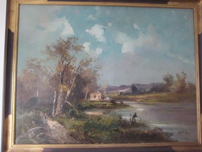 Attribué à GODCHAUX (XIXème-XXème) La maison...