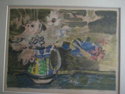 Léonard bouquet dans un pot Epreuve d'artiste...