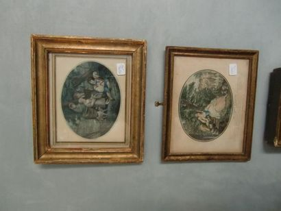 Deux petites gravures (piqûres d'humidit...