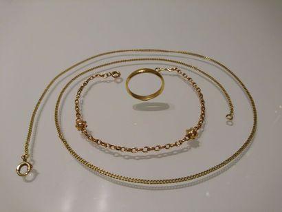 LOT en or jaune (750 millièmes) composé de:...