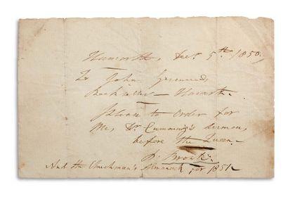 BRONTË PATRICK (1777-1861) Prêtre irlandais et britannique, père des enfants Brontë....