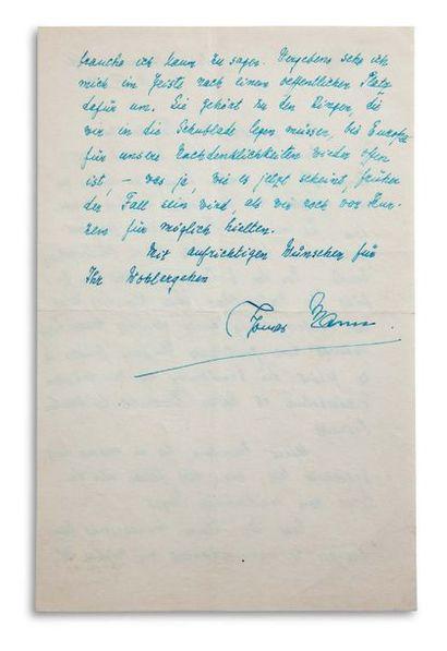 MANN THOMAS (1875-1955). Écrivain allemand.