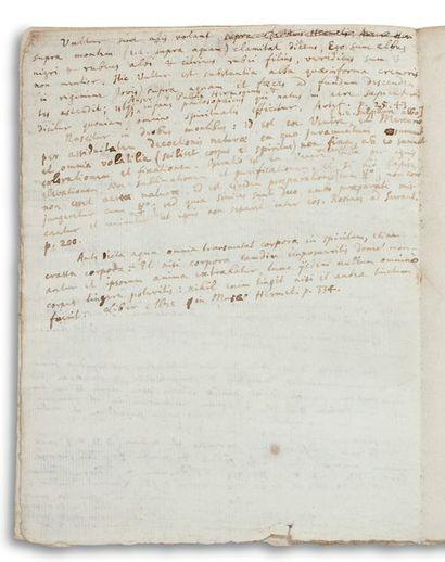 NEWTON ISAAC (1642-1727). Autograph MANUSCRIPT, Sententiæ notabiles expositæ, [end...