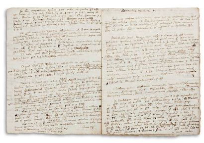 NEWTON ISAAC (1642-1727). Autograph MANUSCRIPT, Notanda Chemica, [1670s]; 8 pages...