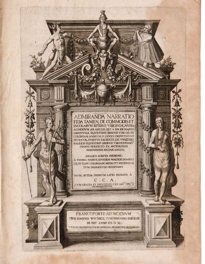 BRY THÉODORE DE (1528-1598). Dessinateur, graveur et éditeur alsacien et belge. Admiranda...