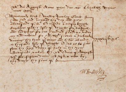 RALEIGH WALTER (1552 ?-1618). Marin et explorateur anglais.