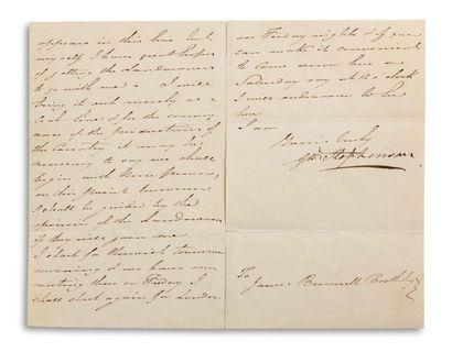 STEPHENSON GEORGE (1781-1848). Ingénieur et inventeur ferroviaire anglais