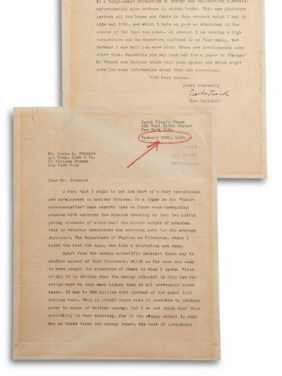 SZILARD LEO (1898-1964). Physicien nucléaire américain, d'origine hongroise.