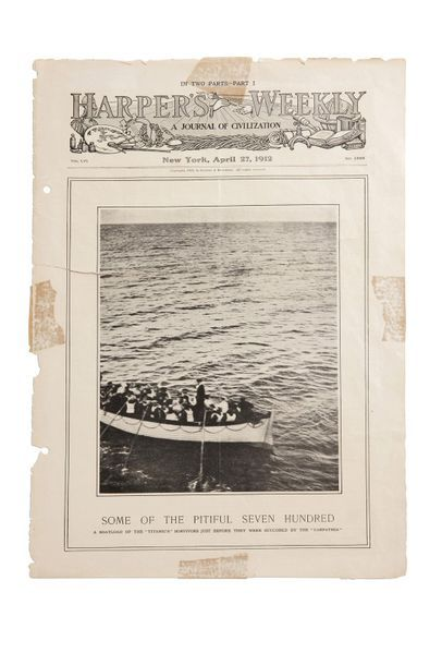 [TITANIC]. Collection of 13 documents relative to the sinking of the Titanic (14...