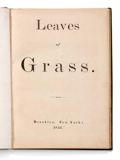 WHITMAN WALT (1819-1892). Leaves of Grass Brooklyn, New York, [James and Thomas Rome...