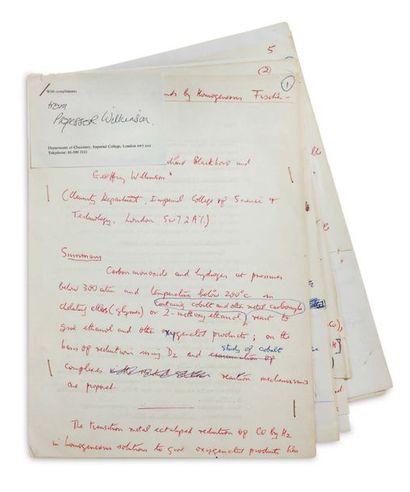 WILKINSON GEOFFREY (1921-1996). Chimiste britannique.