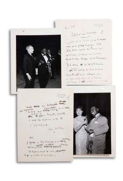 COCTEAU JEAN (1889-1963). Autograph MANUSCRIPT, signed « Jean Cocteau », Salut à...