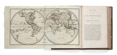 DEFOE DANIEL (1660-1731). La vie et les aventures de Robinson Crusoë. Ancienne traduction...