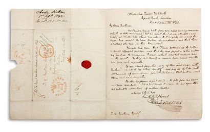 DICKENS Charles (1812-1870) Signed autograph letter, signed « Charles Dickens »,...