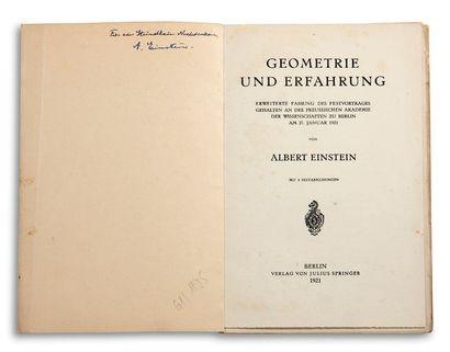 EINSTEIN ALBERT (1879-1955).