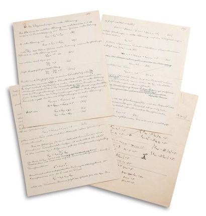 EINSTEIN ALBERT (1879-1955). Autograph MANUSCRIPT, §5. Die Feldgleichungen in erster...