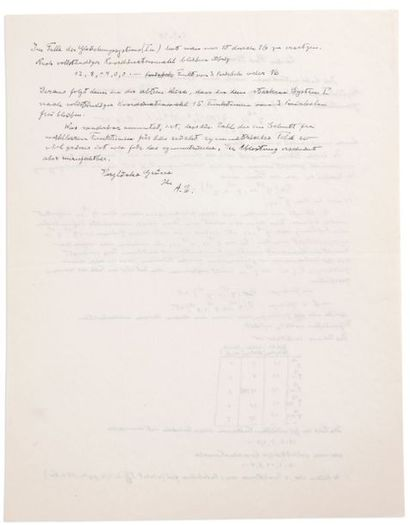 EINSTEIN ALBERT (1879-1955). Signed autograph letter, signed initials « A.E. », [2...