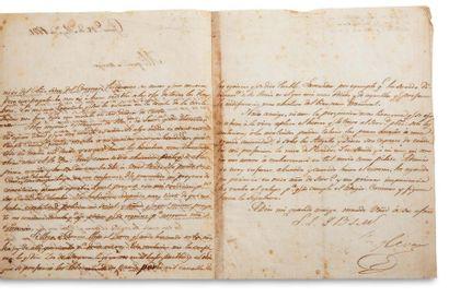 BOLIVAR SIMON (1783-1830). « El Libertador », héros et libérateur d'Amérique du Sud....