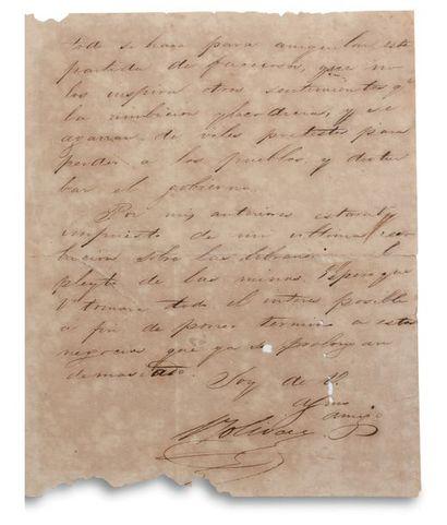 BOLIVAR SIMON (1783-1830). « El Libertador », Venezuelan military and political leader....