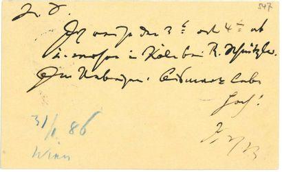 BRAHMS JOHANNES (1833-1897)<br/>Compositeur allemand.<br/>