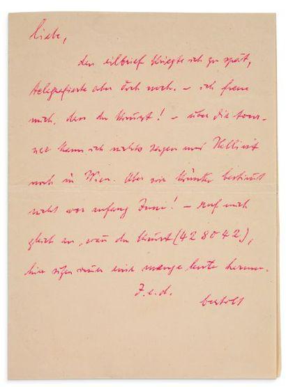BRECHT BERTOLT (1898-1956)<br/>Poète et auteur dramatique allemand.