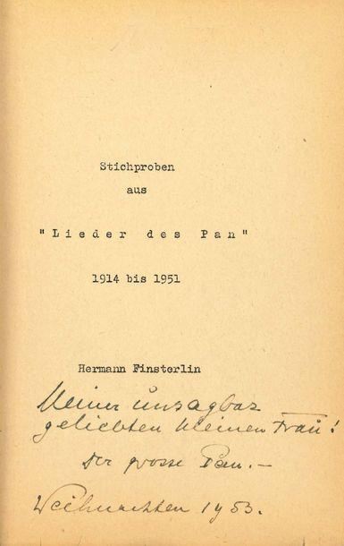 FINSTERLIN HERMANN (1887-1973) Architecte, peintre expressionniste et poète allemand....