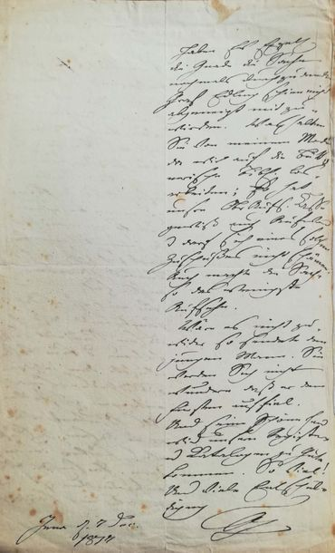 GOETHE JOHANN WOLFGANG VON (1749-1832)