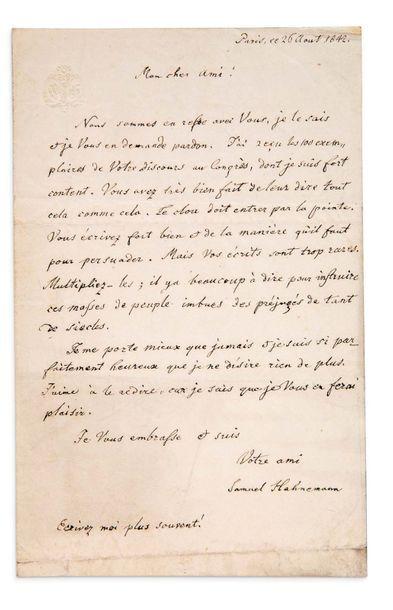 HAHNEMANN SAMUEL (1755-1843)<br/>Médecin, créateur de l'homéopathie.