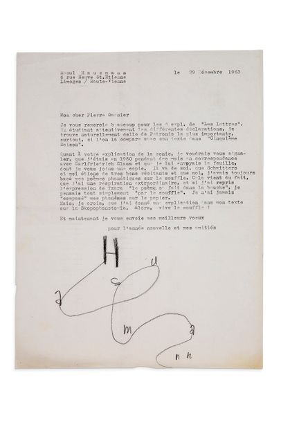 HAUSMANN RAOUL (1886-1971)<br/>Photographe, peintre et poète dadaïste.
