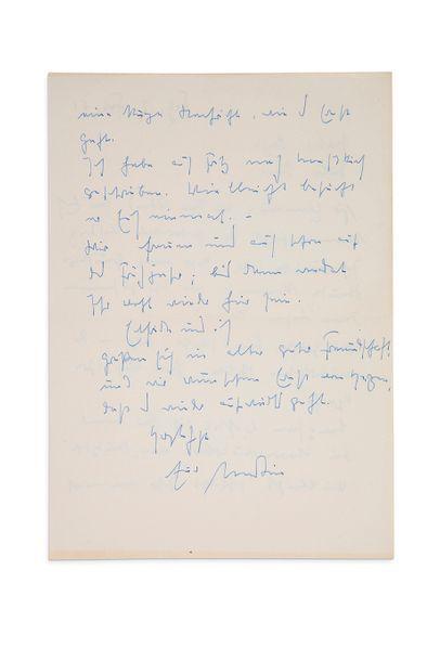 HEIDEGGER MARTIN (1889-1976) Philosophe allemand. L.A.S. «Martin», Fribourg en Brisgau...
