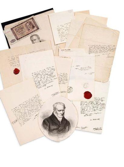 HUMBOLDT ALEXANDRE VON (1769-1859)<br/>Voyageur et géographe allemand.
