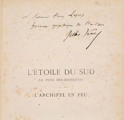 VERNE (Jules) L'Étoile du sud (le Pays des diamants).-L'Archipel en feu. Paris, Bibliothèque...