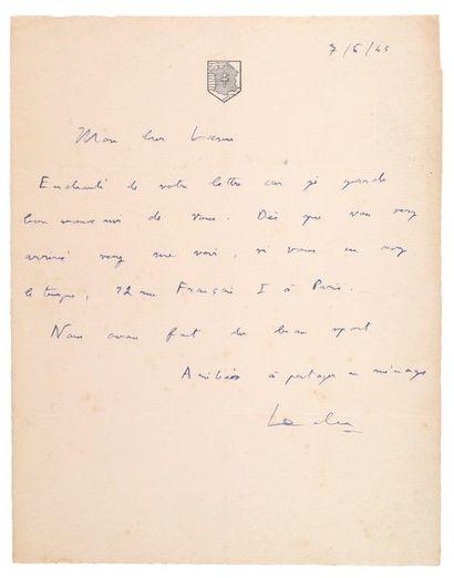 LECLERC Philippe de Hauteclocque dit.( 1902-1947) maréchal de France.