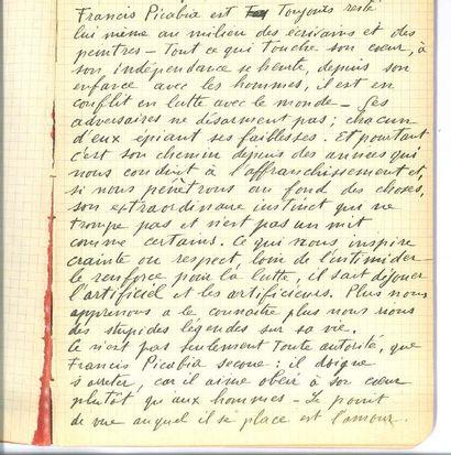 PICABIA FRANCIS (1879-1953). MANUSCRIT autographe signé, Anus Ennazus, 7 août 1946;...