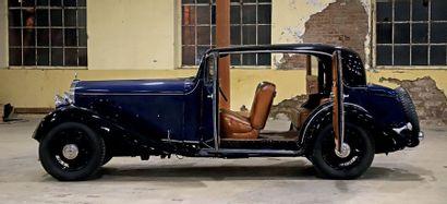 DELAGE D8/15 berline sans montant central 1934 Collection Francis Staub