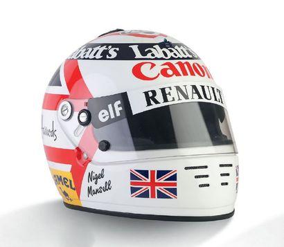 NIGEL MANSELL - 1992 ARAI - Williams Renault...
