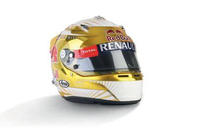 SEBASTIAN VETTEL - 2012 ARAI - Red Bull Racing...