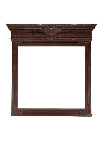 Important miroir de cheminée