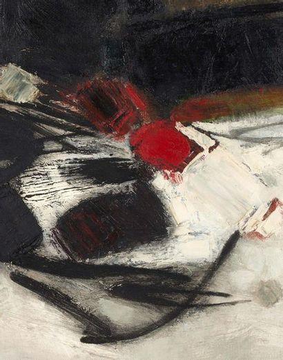 CHU TEH-CHUN (1920-2014) Composition n°62 , 1960 Huile sur toile, signée en bas à...