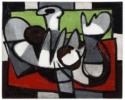 Claude VENARD (1913-1999) Les figues Huile sur toile, signée en bas à gauche Oil...