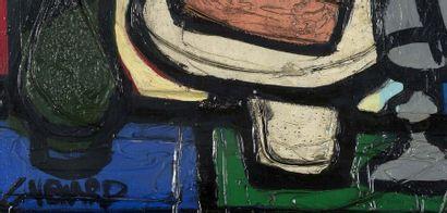 Claude VENARD (1913-1999) Les pipes, 1959 Huile sur toile, signée en basà gauche...
