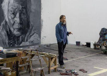 Yan PEI-MING (Né en 1960) Autoportrait , 2002 Huile sur toile, signée, datée et titrée...