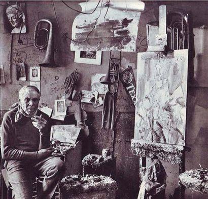 GEN PAUL (1895-1975) Clown violoniste Huile sur toile, signée en haut à droite Oil...