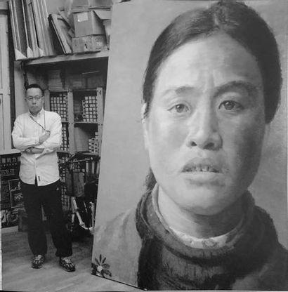 XU WEIXIN (né en 1958) Portrait de femme, 2006 Huile sur toile Oil on canvas 120...