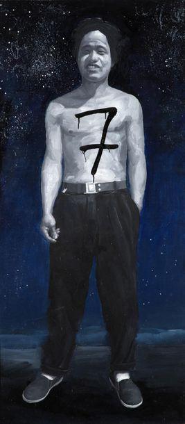 ZHANG DALI (NE EN 1963) Life is a meteor in a desolate universe, 2007 Huile et technique...