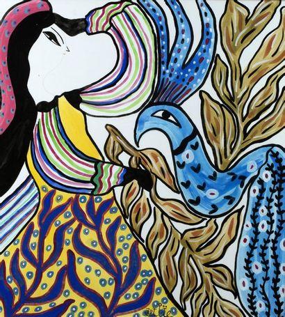 MAHIEDDINE BAYA (1931-1998) Danseuse, 1978 Gouache sur papier, signée et datéeen...