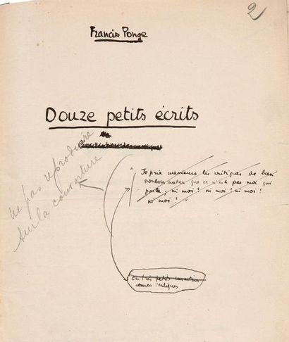 PONGE FRANCIS (1899-1988)