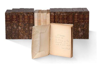 PROUST Marcel (1871-1922) À la recherche du temps perdu. 19 volumes in-12 et in-8...